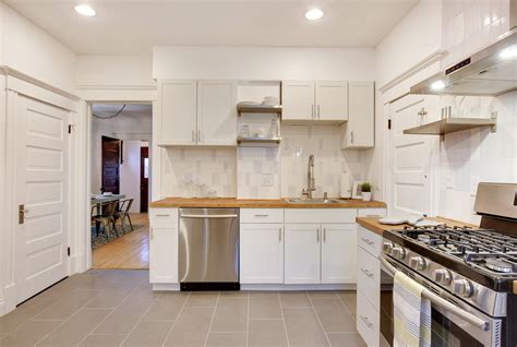 One 12 Kitchens by Modern White Subway Tile Kitchen Mercury Mosaics