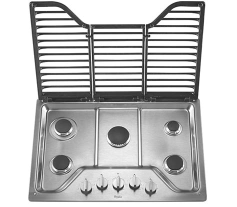 Gas Cooktop Knobs by 30 Whirlpool Gas Cooktop With Stainless Steel Finish Knobs