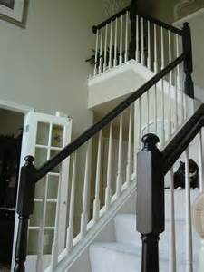 painting banisters painted the yellowy oak staircase banister around my