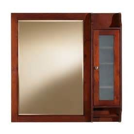 allen roth biscayne cherry mirror cabinet with side