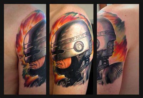 tattoo history com shoulder fantasy robocop tattoo by roman kuznetsov tattoo