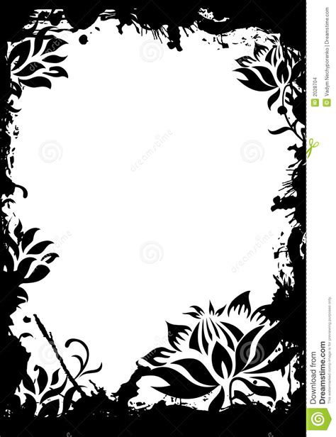 floral grunge frame vector stock vector illustration of illustration 1792578 abstract grunge floral decorative black frame vector illustratio stock vector illustration of