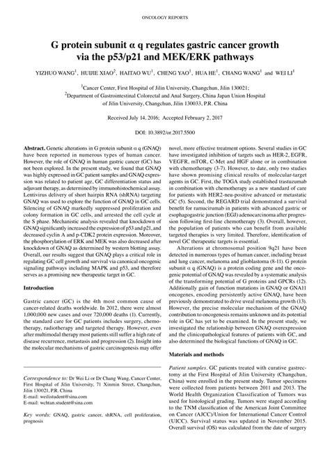 g protein q g protein subunit α q regulates gastric pdf