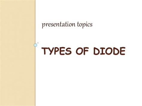 powerpoint presentation on types of diodes 28 images ppt on types of diodes 28 images