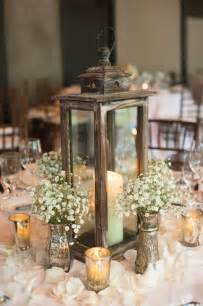 Ligght green and white baby breath candel wedding centerpiece ideas