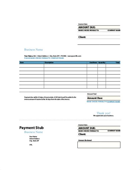 Indesign Invoice Template 7 Free Indesign Format Download Free Premium Templates Indesign Invoice Template