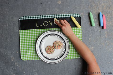 chalkboard cleaner diy diy chalkboard fabric placemats haberdashery