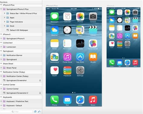 iphone ui themes free sketch ui ios8 kit for iphone 6 6 plus wp gaint