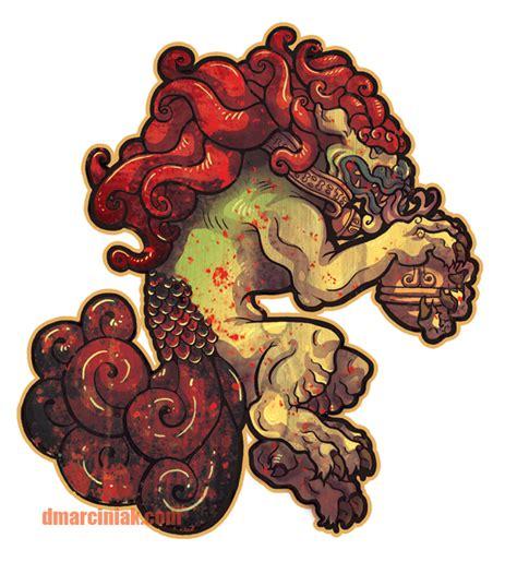 male foo dog sticker by dmillustration on deviantart