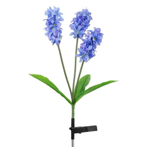 solar flower lights solar flower light hyacinth flower 3led for garden fresh