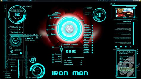 iron man  windows  theme latest version