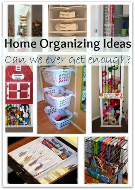 home organizing ideas can we get enough of them