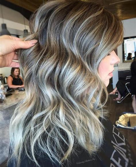 hairstyles grey highlights 45 ideas of gray and silver highlights on brown hair