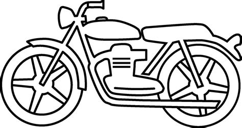 Gambar Untuk Motor gambar mewarnai sepeda motor untuk anak paud dan tk