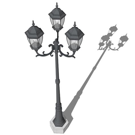 triple lamp post 3d model formfonts 3d models amp textures