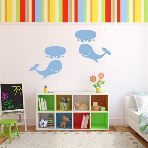 whale wall stickers whale wall decal set of 2 wall decal world
