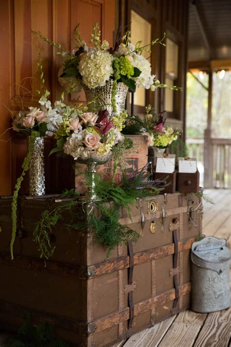 rustic outdoor wedding  lake iamonia lodge