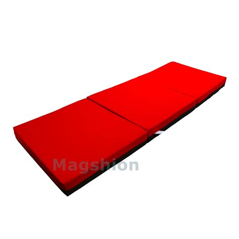 Memory Foam Floor Mat by 4 Inch Memory Foam Firm Mattress Trifolding Bed Pad Floor