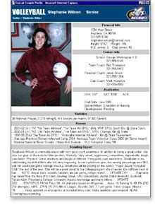 college recruiting profile template home 888 284 9227 www recruitzone