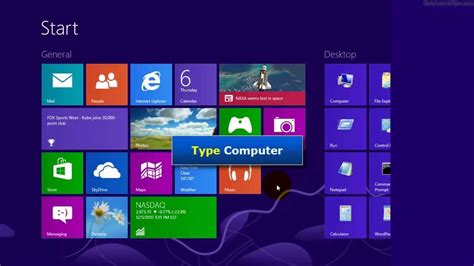 windows 8 four ways to open my computer using mouse