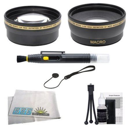 sse 58mm wide angle & telephoto lens kit for canon rebel