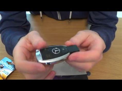 key fob battery replacement on a mercedes benz c class