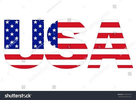 usa text written with usa flag imagen de archivo stock