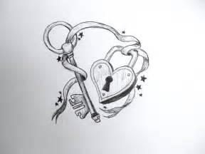 heart lock n key tattoo design tattoobite com