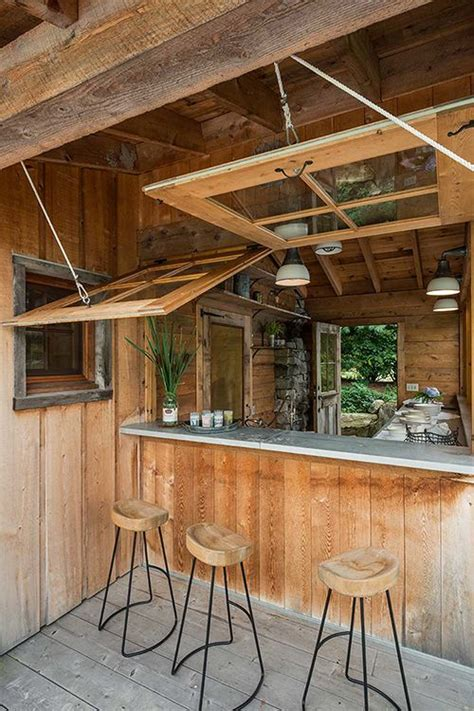 Outdoor Rustic Bar Ideas Images Patio Bar Designs