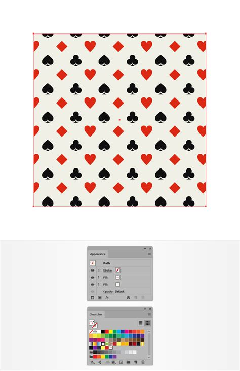 adobe illustrator add pattern how to create a card suits pattern in adobe illustrator