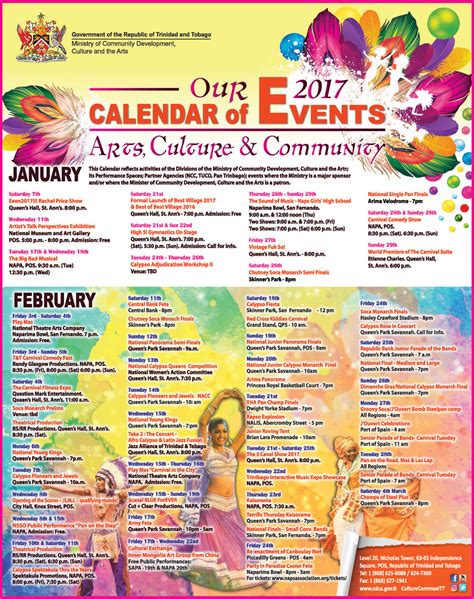 And Tobago Calendã 2018 Printable 2017 Calendar And Tobago Calendar