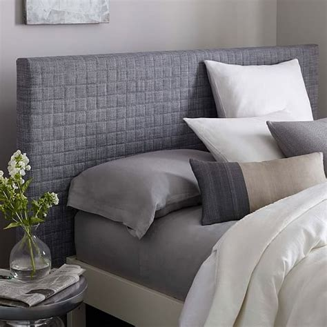 quilted headboard west elm