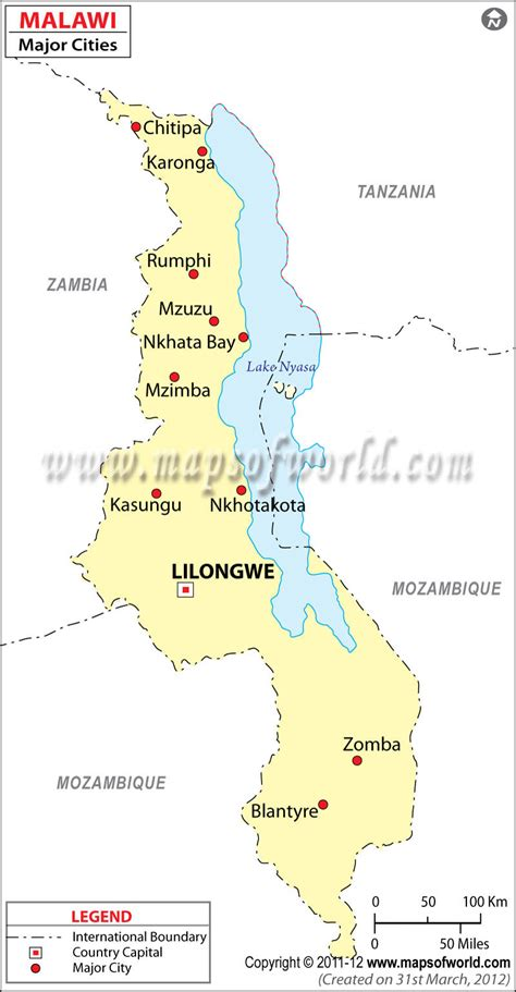 Major Cities In Malawi