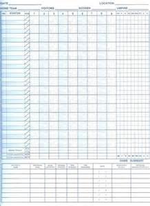 softball scorecard template 8 1 2 x 11 scorebook with pitching log all sports publishing