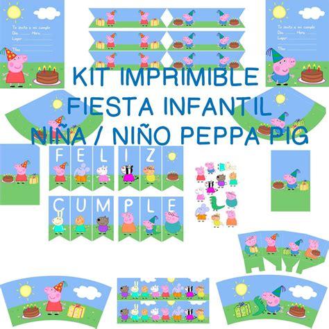 kit imprimible de peppa pig kit imprimible peppa pig infantil ni 241 o o ni 241 a diy bs 10 500 00 en mercado libre