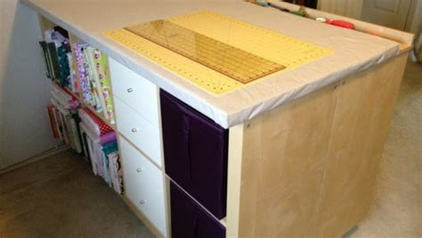 sewing cutting table ikea expedit sewing crafting cutting table ikea hackers