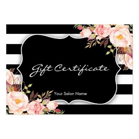 floral gift card template floral salon or boutique gift certificate template gift