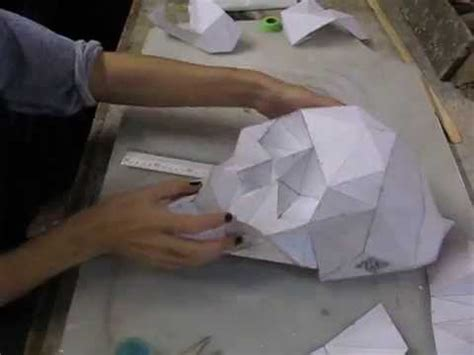 How To Make A Deer Out Of Paper Mache - diy folding paper skull skullsforchange