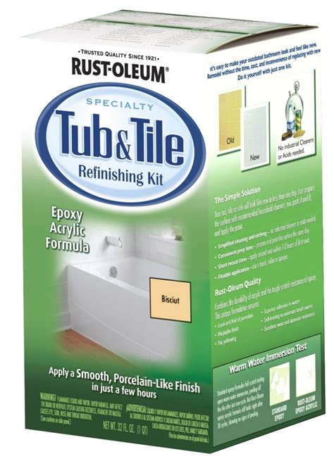 bathtub paint kit rustoleum 7862519 biscuit bathtub title refinish paint