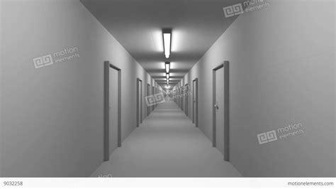 White Corridor endless white corridor with doors seamless loop 4k stock