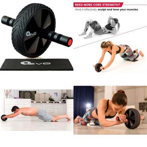 ab roller workout abdominal wheel fitness exercise abs equipment pro nuevo ebay
