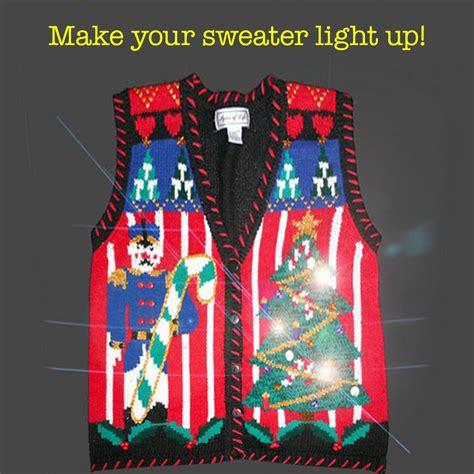 ugly christmas sweater light kit light up your ugly christmas sweater with battery operated