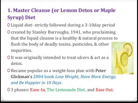 Lemon Detox Diet Pros And Cons by Weight Loss Diets