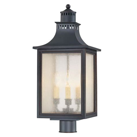 savoy house lighting pale seeded glass post light black savoy house 5