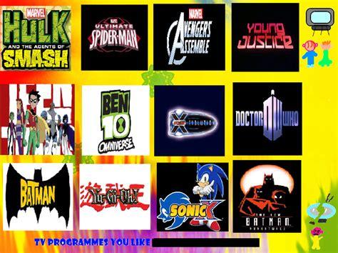 best tv programmes top 12 tv programmes i like by comicpinks123 on deviantart