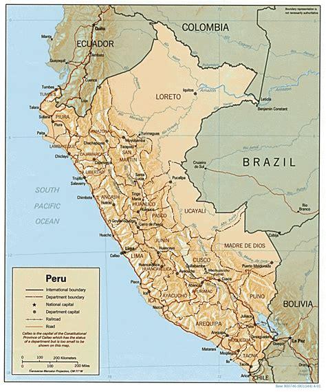 peru on the map peru
