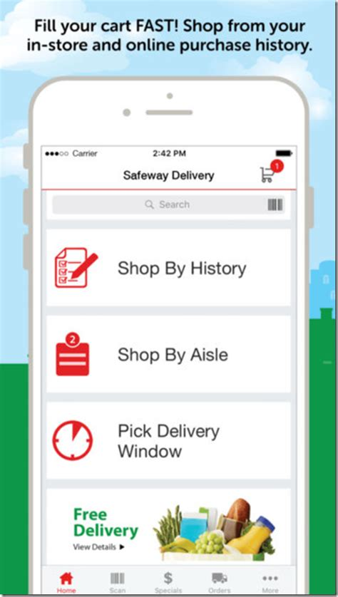 how to get free delivery at safeway albertsons momstart