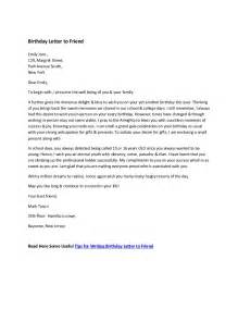 sle birthday letter to friend