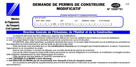 Modification Permis De Construire by Permis Modificatif Maison Individuelle Ventana