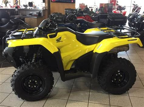 new 2018 honda fourtrax rancher 4x4 at irs eps atvs in